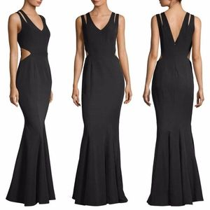 NEW JAY GODFREY BLACK Rasa CUT OUT Evening GOWN
